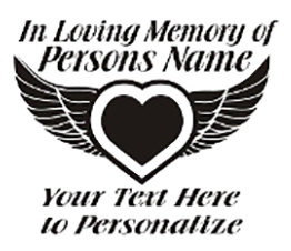 In Loving Memory of beautiful winged heart Decal Sticker