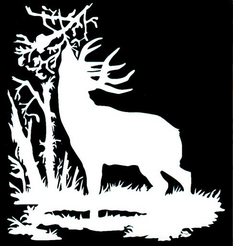 Deer Licking Branch Scrape Hunting Decal Sticker