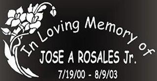 In loving memory of flower bouquet Decal Sticker