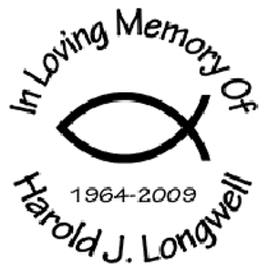 Religious Jesus fish In loving memory of Decal Sticker