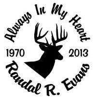 Always in my heart deer head Decal Sticker
