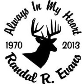 Always in my heart deer head Decal Sticker