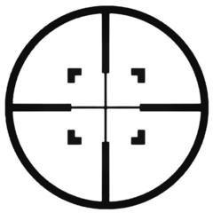 CROSSHAIR Hunting Decal Sticker 3