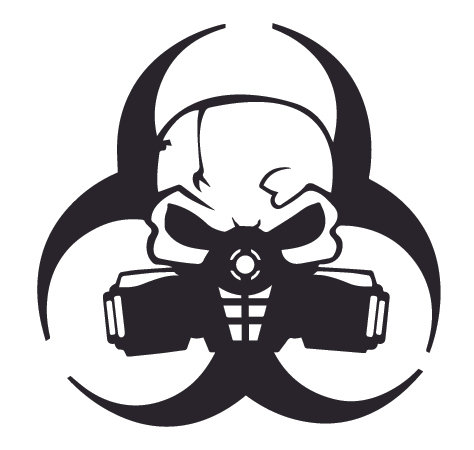 Biohazard Skull Mask Rebel Decal Sticker