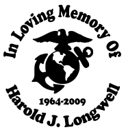 In loving memory MARINES Decal Sticker