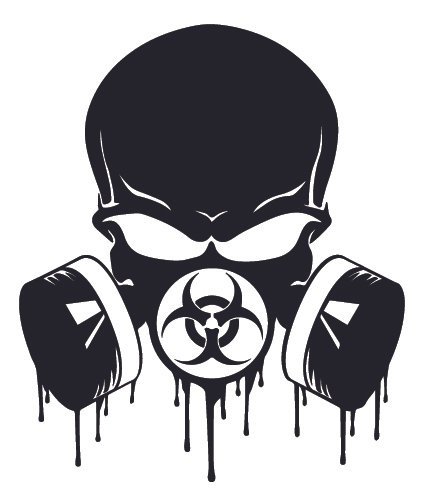 BADDAZZ Biohazard Skull Blood Dripping Zombie Decal Sticker