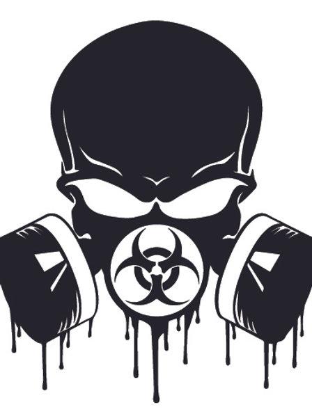 BADDAZZ Biohazard Skull Blood Dripping Zombie Decal Sticker
