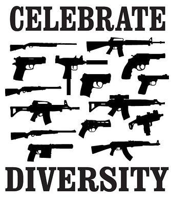 CELEBRATE DIVERSITY Gun Decal Sticker