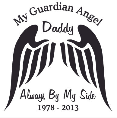 DADDY My guardian angel always by my side Decal Sticker