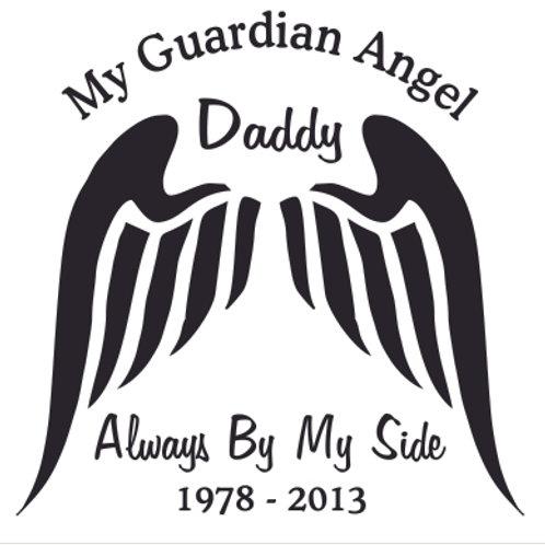 DADDY My guardian angel always by my side Decal Sticker