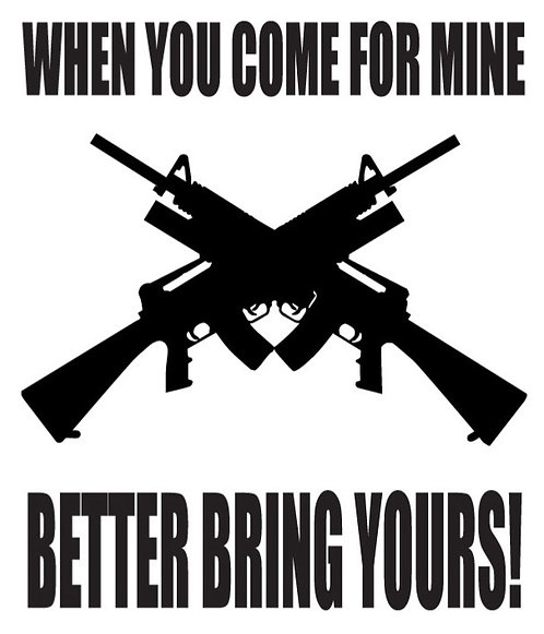 WHEN YOU COME FOR MINE BETTER BRING YOURS Gun Decal Sticker