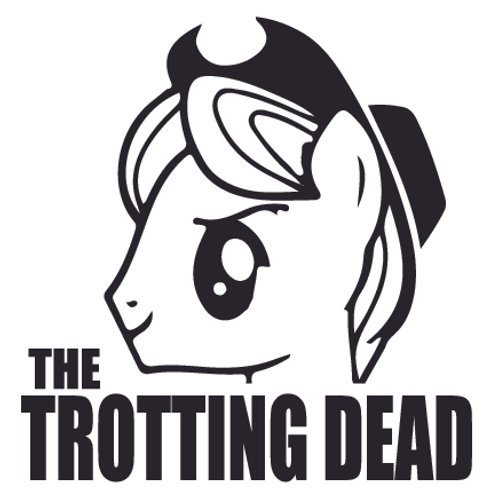 My Lil Pony Trotting Dead Walking Dead Decal Sticker