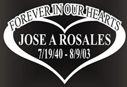 Forever in our hearts heart Decal Sticker