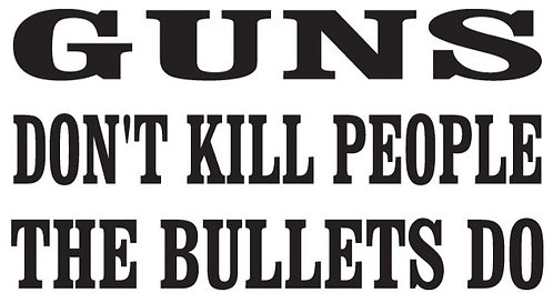 GUNS DON'T KILL PEOPLE Bullets Do Gun Decal Sticker