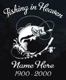 Fishing in heaven bass fishing Decal Sticker