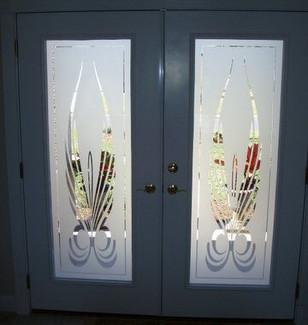 Etched Glass Entrance Door Decals
