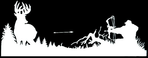 Bowhunter Field Back Window Hunting Decal Sticker