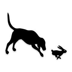 Rabbit Hunted by Dog Hunter Decal Sticker