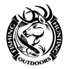 HUNTING FISHING OUTDOORS Hunting Decal Sticker