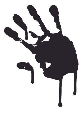 Dripping Bloody Hand Print Zombie Decal Sticker