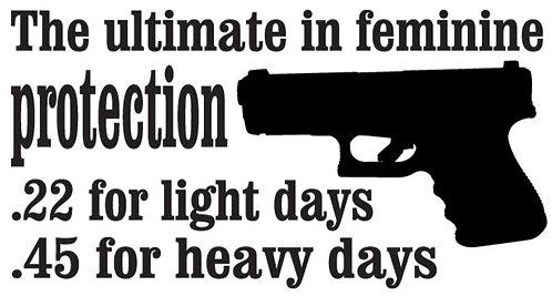 The ultimate feminine PROTECTION Gun Decal Sticker