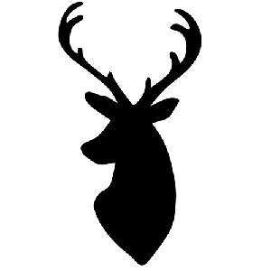 Deer Mount Hunting Decal Sticker 2