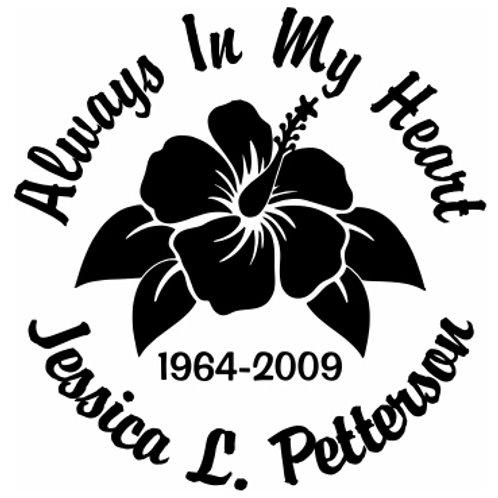 Always on my mind Hawaiian flower Decal Sticker