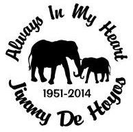 Always in my heart elephant Decal Sticker