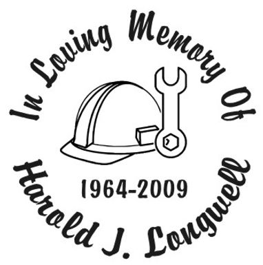In loving memory of hard hat Decal Sticker