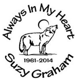 Always in my heart wolf in memory Decal Sticker