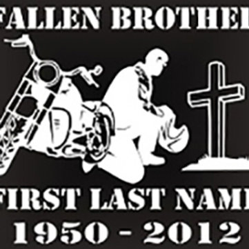 Fallen brother motorcycle bike Decal Sticker