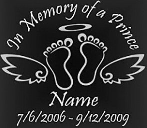 In memory of a prince baby Decal Sticker