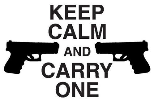 KEEP CALM and Carry One Gun Decal Sticker