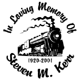 In loving memory of train Decal Sticker