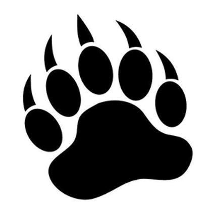 BEAR PAW PRINT Hunting Decal Sticker