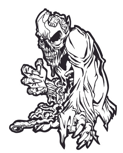 THE DEAD ARE ALIVE Zombie Decal Sticker