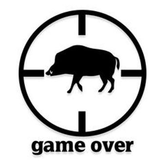 GAME OVER Boar Hunting Decal Sticker
