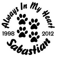 Always in my heart paw prints Decal Sticker