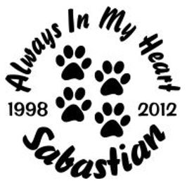 Always in my heart paw prints Decal Sticker