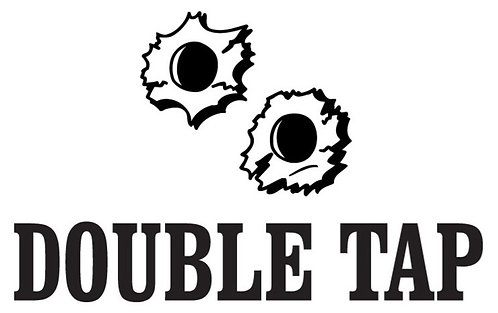 DOUBLE TAP Gun Decal Sticker