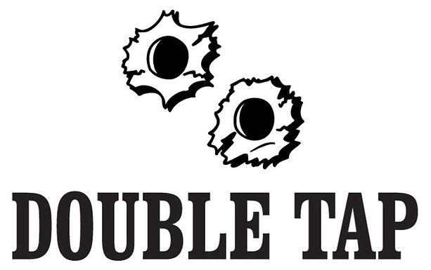 DOUBLE TAP Gun Decal Sticker