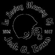 FOOTBALL helmet In loving memory of Decal Sticker
