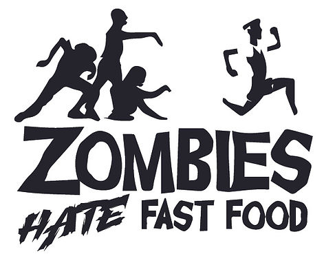 ZOMBIES Hate FAST Food Decal Sticker