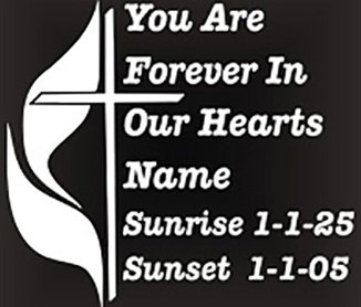 You are in our hearts religious Decal Sticker