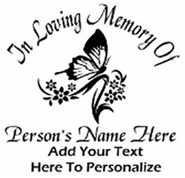 In loving memory of beautiful sunflower Butterfly Decal Sticker