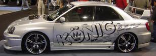 Konig Show car Decal