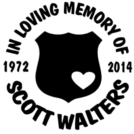 In loving memory of heart badge officer Decal Sticker