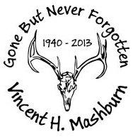 Gone but never forgotten deer skull Decal Sticker