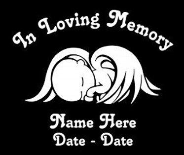 In loving memory of baby angel sleeping Decal Sticker
