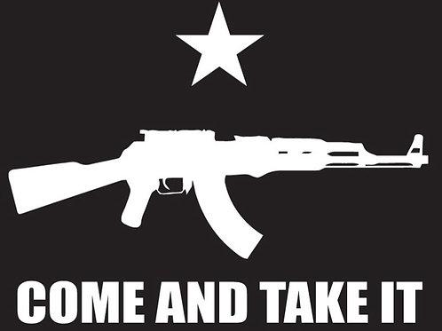 COME AND TAKE IT Gun Decal Sticker